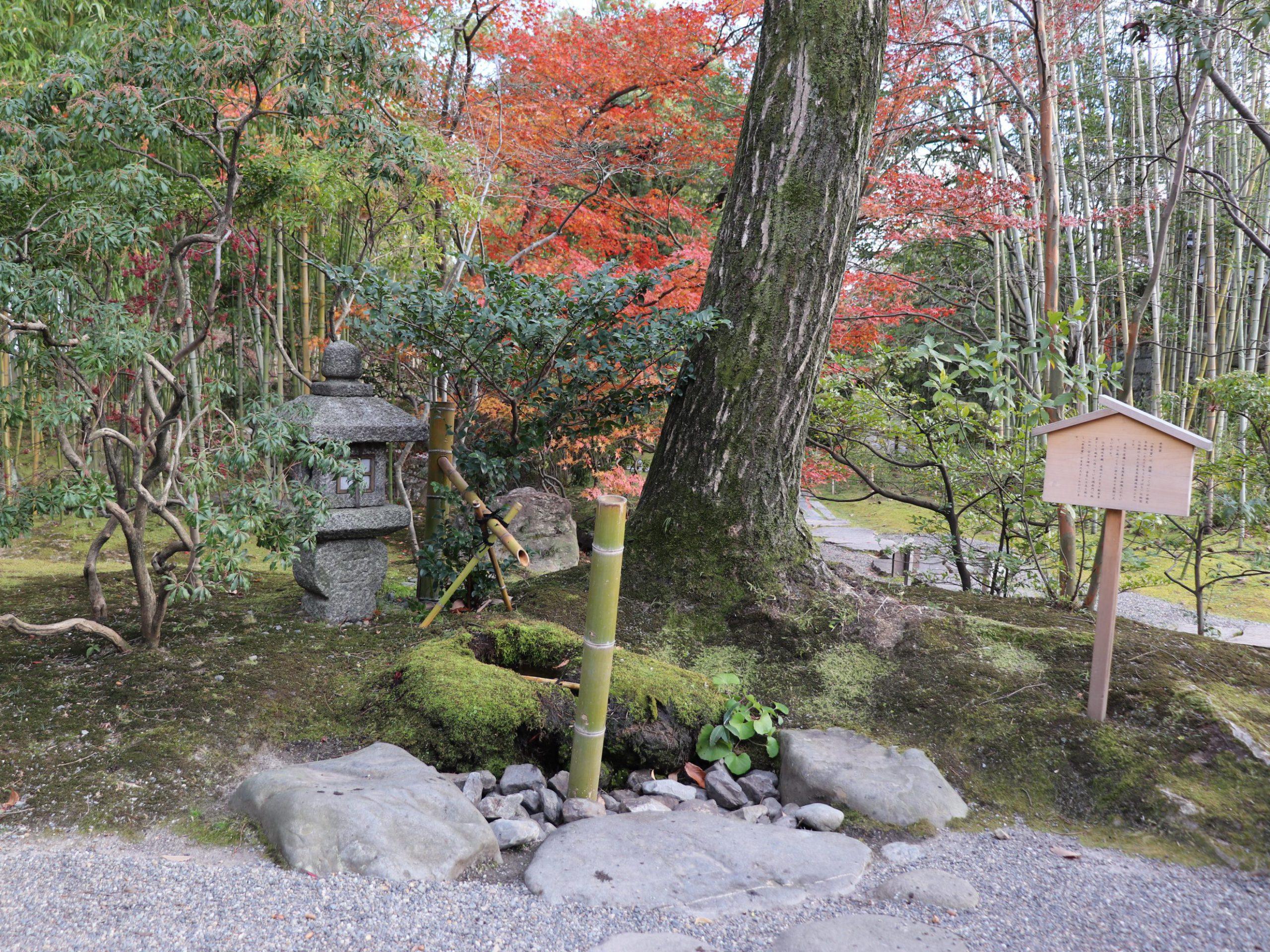 松花堂庭園の水琴窟
